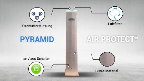 detalhe purificador de ar